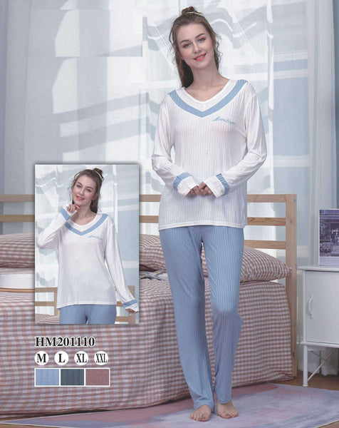 Flourish Night Wear-T Shirt Style Pjs-Hm-201110 - LadiesInn.pk