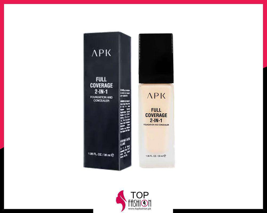 Apk Foundation Full Coverage 2-In-1 Foundation And Concealer - LadiesInn.pk