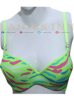 Padded Wired Colorful Bra - LadiesInn.pk