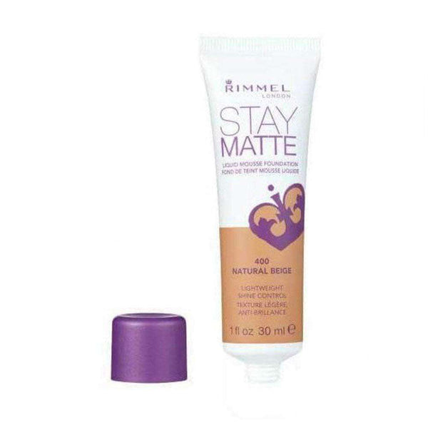 Rimmel Foundation & Primer Stay Matte Liquid Mousse Foundation 400 Natural - LadiesInn.pk