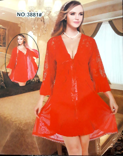 Short Nighty V Neck Night gown