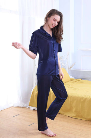 Flourish Night Wear- 2 Pcs Pj Set - Fl-0116-Pj-Set - LadiesInn.pk