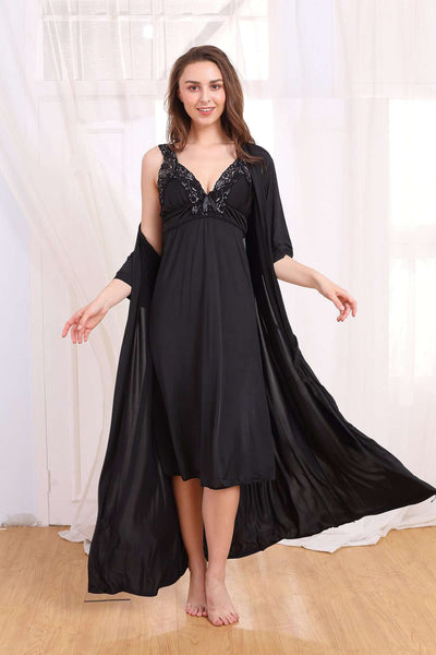 Flourish Night Wear-Gown Set-Fl-721-Gown-Set - LadiesInn.pk