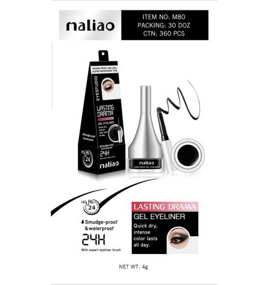 Maliao Long -wear Gel eyeliner-4g - LadiesInn.pk