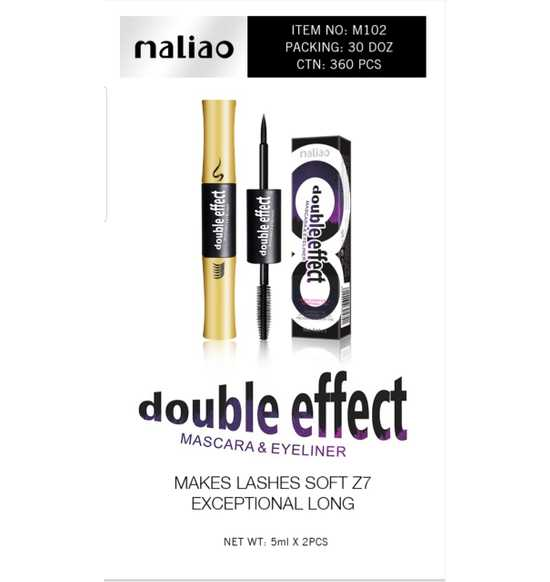 Maliao Double Effect Mascara and Eyeliner -10ml - LadiesInn.pk