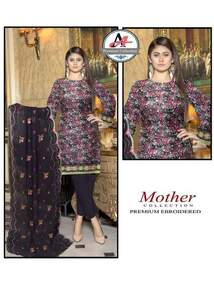3 Piece Digital Lawn Suit With Embroidered Cutt Work Dupatta-32