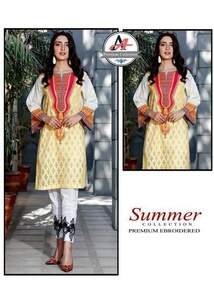 3 Piece Digital Printed Lawn Suit With Chiffon Dupatta,Printed Trouser-18