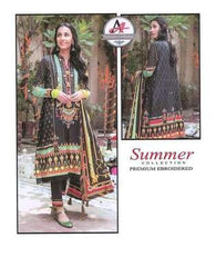 3 Piece Digital Printed Lawn Suit With Lawn Dupatta, Simple Trouser-27