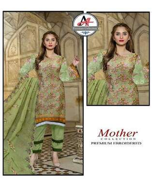 3 Piece Digital Lawn Suit With Embroidered Cutt Work Dupatta-15
