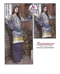 3 Piece Masoori Lawn Suit With Lawn Chifoon Dupatta, Simple Trouser-29