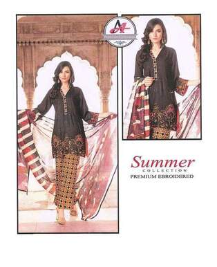 3 Piece Digital Printed Lawn Suit With Lawn Dupatta, Printed Trouser-24