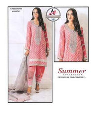 3 Piece Digital Printed Lawn Suit With Chiffon Dupatta, Embroidered Trouser-21