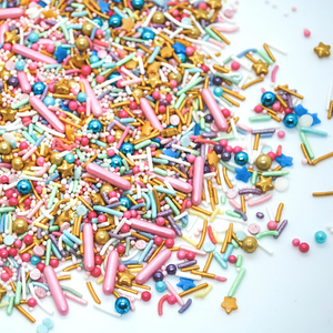 pink and gold sprinkle mix, Dancing Queen Sprinkle Mix, easy cake kits perth