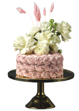 Load image into Gallery viewer, rustic wedding cake, blush pink strawberry buttercream, easy cake kits perth, boho wedding cake, rustic wedding cake, french style cake, rosette covered cake