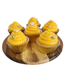 Load image into Gallery viewer, be-hive theme cupcakes, bee cake toppers, easy cake kits Perth, honey buttercream