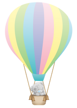 Load image into Gallery viewer, teddy bear in a hot air-balloon cake topper, easy cake kit perth