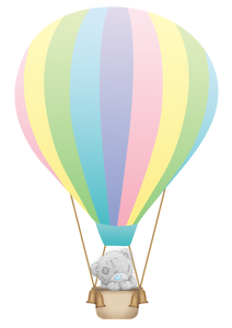 teddy bear in a hot air-balloon cake topper, easy cake kit perth