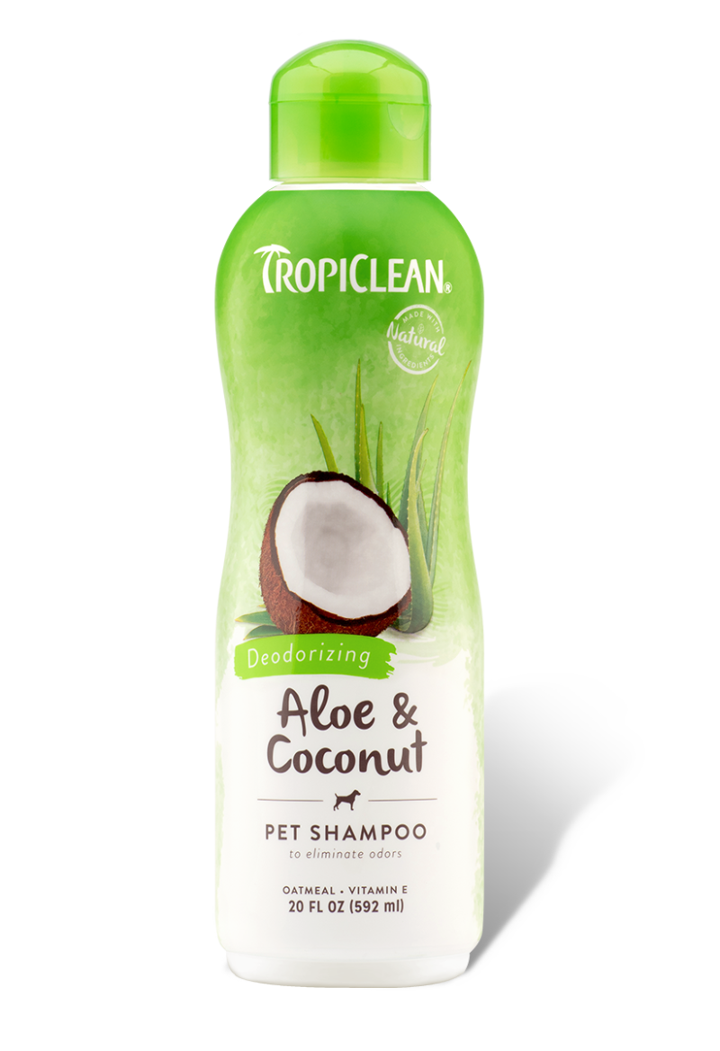 Tropiclean Aloe & Coconut Deodorizing Pet Shampoo- 20oz/592ml -