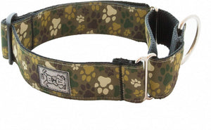 RC Pets -  Pitter Patter Camo Easy Clip All Webbing Training Collar - Large 19 - 26""
