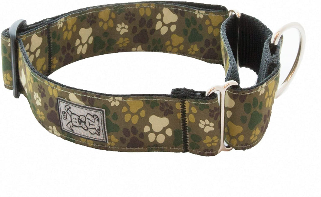 RC Pets -  Pitter Patter Camo Easy Clip All Webbing Training Collar - Large 19 - 26