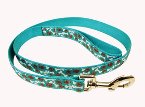 Hunter Aqua Paw/Bone Leash