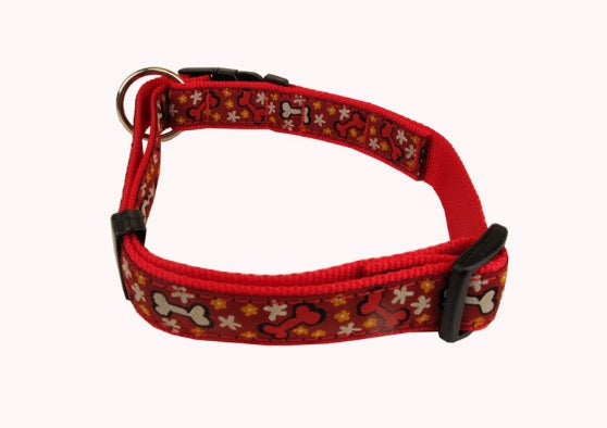 Hunter Adjustable Clip Collar - Red Bones