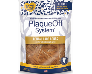 Plaque Off Dental Care Bones - Chicken & Pumpkin Flavor