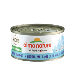 Almo Nature HQS Natural Mixed Seafood in Broth - 70g