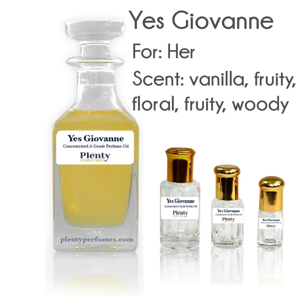 Perfume Oil Yes Giovanne - Plenty Perfumes