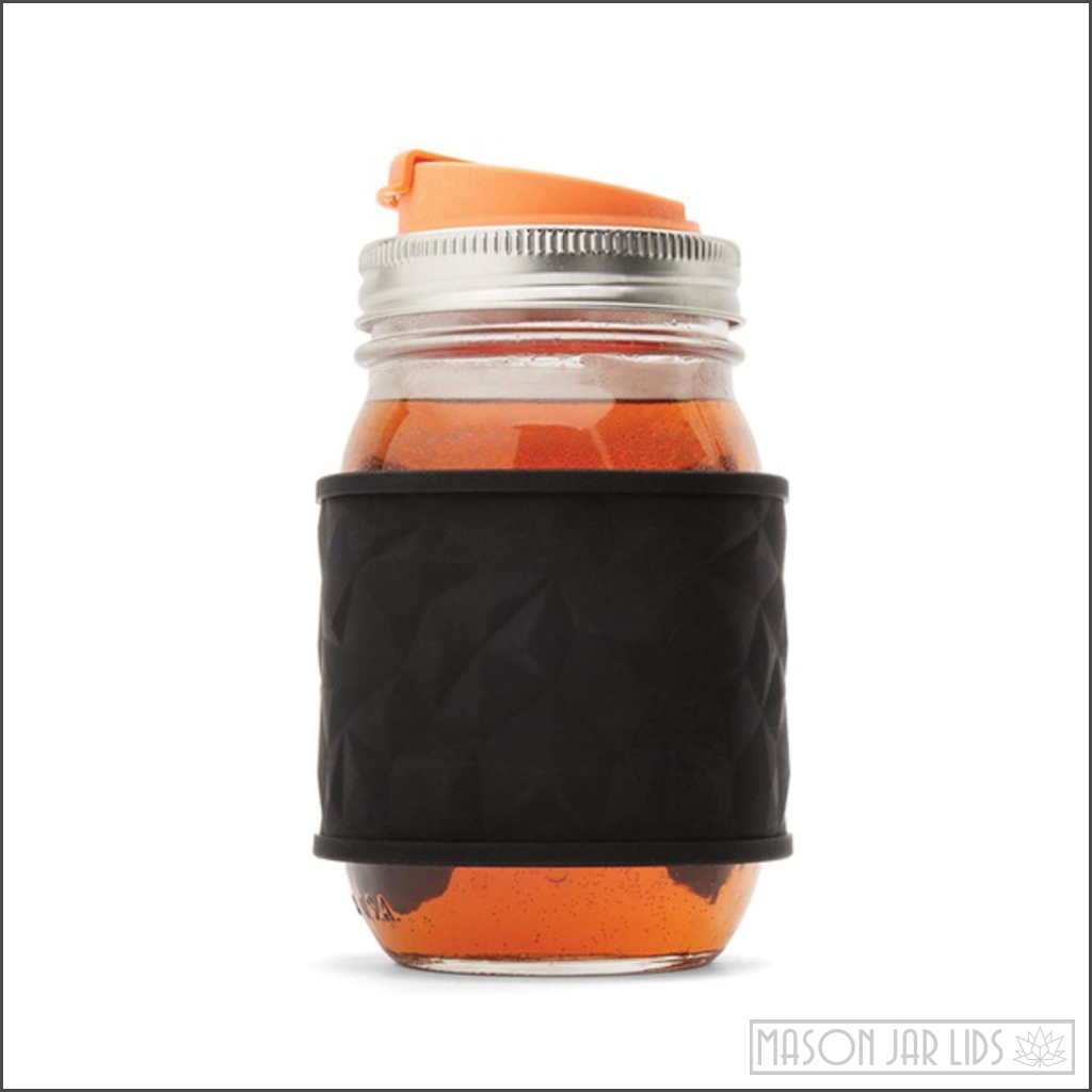 Adult Sippy Cup Snap Lid Mason Jar