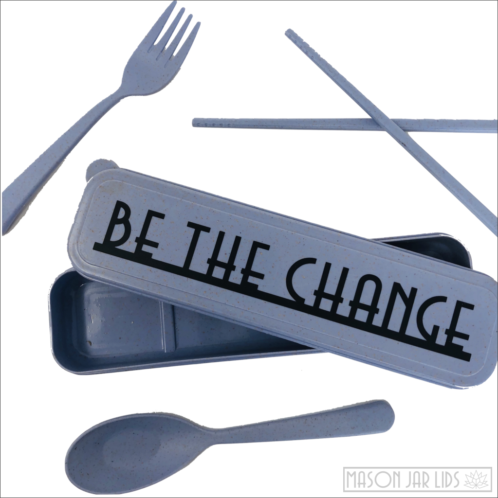 Wheat Straw Cutlery Kit - Be The Change Version