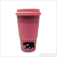 Load image into Gallery viewer, Wheat Straw Hot & Cold Reusable Cup - Bear Family Version Pink Bear Family