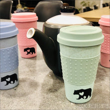 Load image into Gallery viewer, Wheat Straw Hot & Cold Reusable Cup - Bear Family Version Bear Family