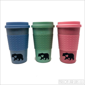 Wheat Straw Hot & Cold Reusable Cup - Bear Family Version Bear Family