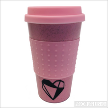 Load image into Gallery viewer, Wheat Straw Hot & Cold Reusable Cup - Love Version