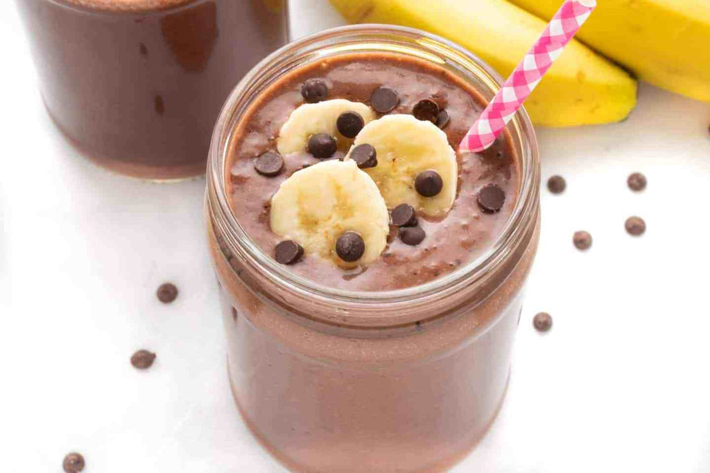 Dark Chocolate Banana Protein Smoothie