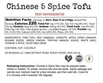 ***NEW** Chinese 5 Spice Tofu