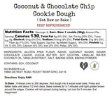 Coconut & Chocolate Chip Cookie Dough- EAT RAW or BAKE