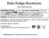 Dark Chocolate Date Fudge Brownies
