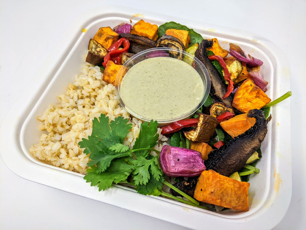 Meal Prep: Green Curry Vegetable Bowl