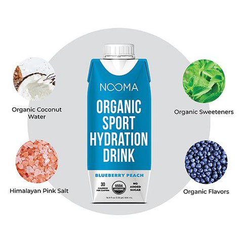Nooma Organic- Blueberry Peach - Sport Hydration Drink