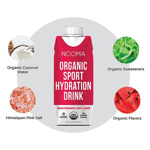 Nooma Organic- Watermelon Lime - Sport Hydration Drink