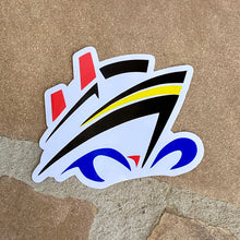 Load image into Gallery viewer, Disney Cruise Ship Vinyl Sticker - Stylized - Exclusive Design!