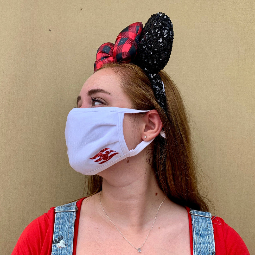 Disney Cruise Inspired Face Covering - PRE-ORDER - Two layer - Unisex - Adult - One Size