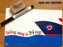 Load image into Gallery viewer, Disney Cruise Countdown - Disney Vacation Countdown - White Erase Board