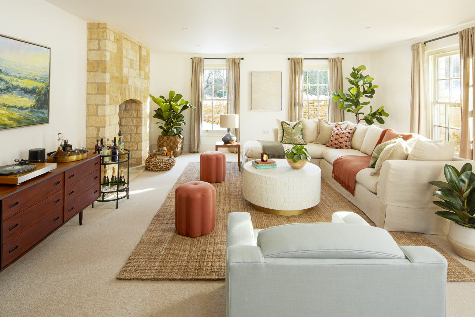 Living room in Cotswolds Million Pound House