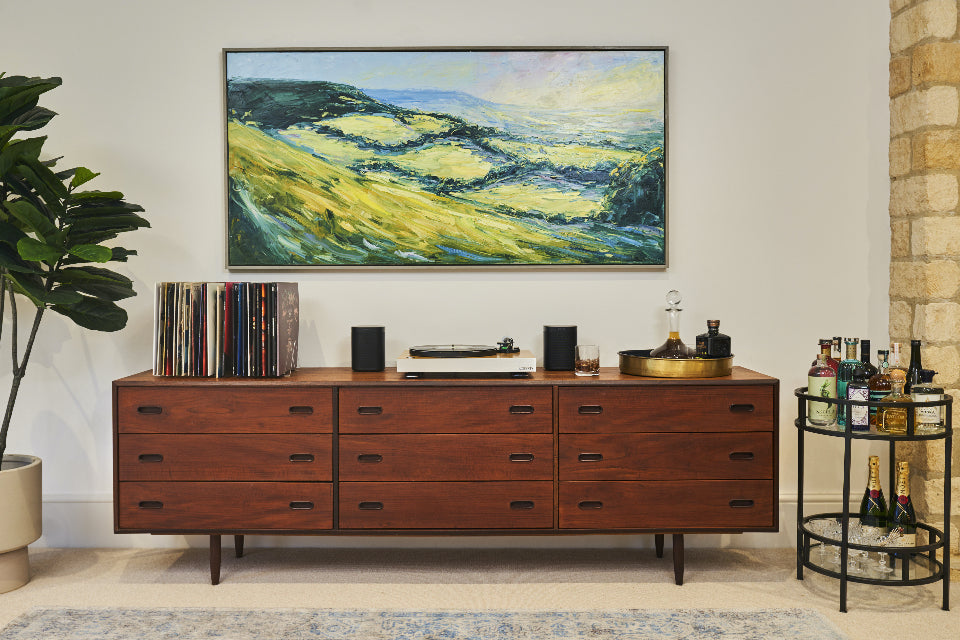 Side Cabinet in living room included in competition to win a house