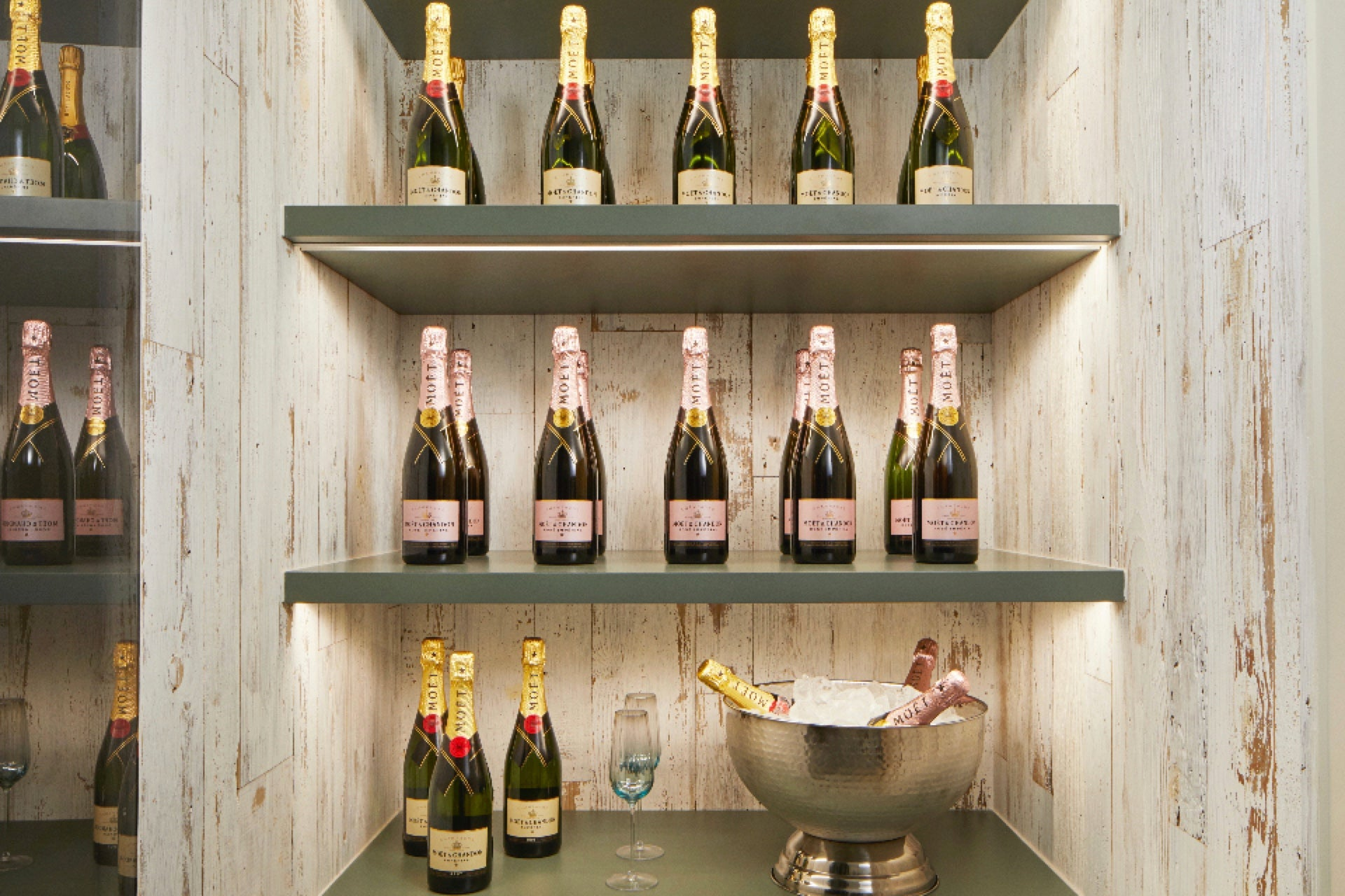 Wine chiller in Million Pound London House