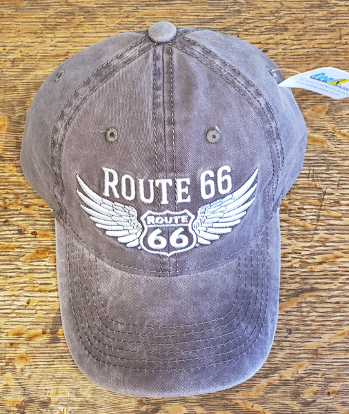Route 66 Wing Brown Hat