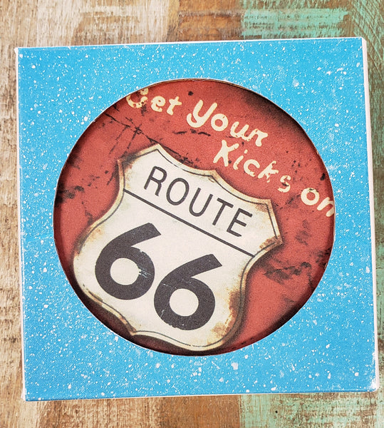 Route 66 Absorbent Stone Coasters